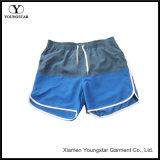 Women′s Beach Board Shorts Swimwear Grey and Blue Swim Trunks