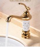 Single Handle Luxury Gold Brass Diamond Basin Mixer (Zf-M22)