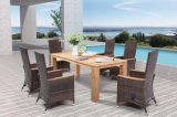 Rattan Garden Polywood Dining Table Outdoor Patio Wicker Furniture (J375)