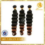 T Tone Color High Quality Deep Wave Hair Weave Top Fashion Texture Deep Wave Super Quality T Tone Color Hair