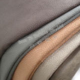 Upholstery Home Textile Suede Embossed Sofa Fabric with Brushed Backing