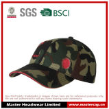 100% Cotton Camouflage Cap with Flat Embroidered