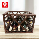 Top Sale 8 Mini Home Cellar Display Red Wood Wine Rack for decoration