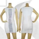 MIDI White Zipper Ol Style Dress