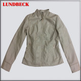 Leisure PU Outerwear Jacket for Women in Good Quality