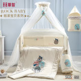 Crib Baby Bedsheet with Quilt