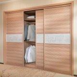 Oppein Modern Sliding Built in Wooden Bedroom Wardrobe (YG11139)