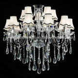 Fashion Hotel Crystal Chandelier Lighting in Elegance Black