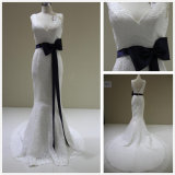 Real Sample Mermaid Lace Wedding Dress (T10420)