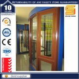 Wooden Grain Aluminum Double Glazed Casement Windows