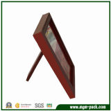Simple Red Wooden Picture Frame for Desk Decoration