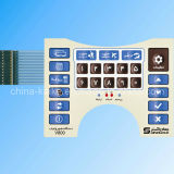 Pillow Embossing Button Membrane Switch Assembled with LED