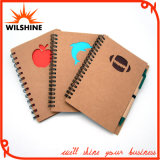 Custom Wholesale Spiral Notebook with Eco Friendly Pen for Promotion (SNB125)