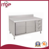with 3 Drawers and Doors and Backsplash Bench Cabinet (BC-C08)