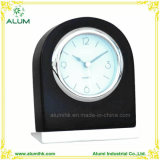 Hotel Table Black/White Silent Wooden Alarm Clock