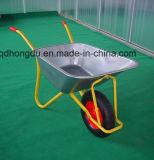 Pneumatic or Solid Wheel Galvanized Tray Wb7201 Wheelbarrow