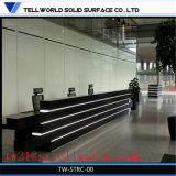 Unique L Shaped Desk Artifical Marble Stone Furniture Reception Counter