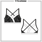Customized Girl Women Dri Fit Sublimated Spandex Sports Bra