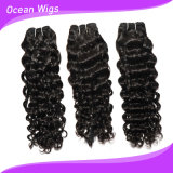 100% Human Cambodian Virgin Remy Hair Water Wave Hair. Extension (W-072)