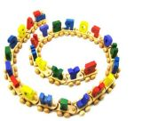 Wooden Toys, 100PCS Wooden Train Set