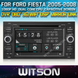 Witson Car DVD for Fiesta 2005-2008 Car DVD GPS 1080P DSP Capactive Screen WiFi 3G Front DVR Camera