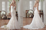 Factory Price Sweetheart Chapel Train Tulle Lace Wedding Dress