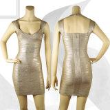 Gold Stamping V Necked Toast Skirt