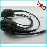 Binaural Rj11 Call Center Headset for Telephone Headset with Foam Ear Cushion