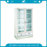 AG-Ss083-2 with Glass Door Steel Cupboard