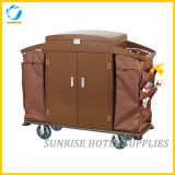 Hotel Metal Construction Housekeeping Maid Trolley