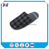 New Style Check Fabric Daily Use Bedroom Slippers for Men