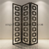 Interior Decoration Stainless Steel Room Divider Company Office Lobby Folding Screen