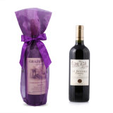 Purple Organza Wine Bags with Bow