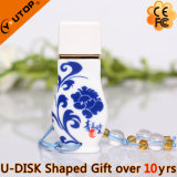 Personalized Logo Gift Ceramic Vase USB Pendrive (YT-9106)