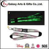 Promotional Night Lights Noctilucent Neck Lanyard Custom Strap