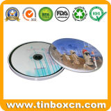 Round CD Tin Box for Metal CD Bag, Tin CD Case