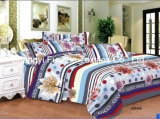 Printed Microfiber or Polyester Quilt Cover Faric for Bedding Set