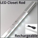 DC12V/ Recharging Battery Elastic LED Wardrobe Rail with Motion Sensor Switch
