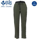 Rayon Green Loose Ladies Long Trousers