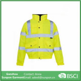 Yellow Highway Security Men Safety Reflective Jacket