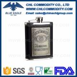 Stainless Steel 6oz Portable Embossed Hip Flask for Sale