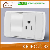 Top Quality White PC 1gang 3pole Wall Switch Socket