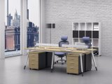 White Customized Metal Steel Office Staff Workstation Table Frame with Ht78-3