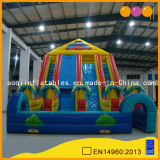 Jungle Quadruple Lane High Slide Inflatable Obstacle Slide Game (AQ1104)