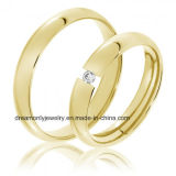 Luxury Gold Wedding Ring Engagement Ring