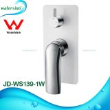 High Quality Chrome and White Shower Faucet Mixer