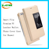 Smart Flip Premium PU Leather Wallet Phone Cover Case for Huawei