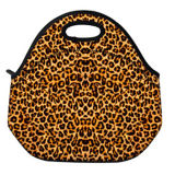 Leopard Pattern Travel Outdoor Cooler Thermal School Work Lunch Bag Tote Box Container