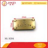 Jinzi Design Handbag Metal Logo Label Plate Customize Metal Logo Plate
