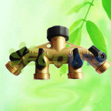 Brass Multi Tap Adapter 4 Way Outlet (HT1276)